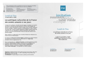 Invitation Lundi de l'Ina - 13 avril 2015